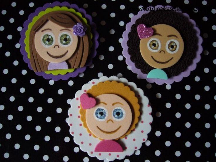 www.unpocodetodo.org - Broches de caritas de goma eva - Broches - Goma eva - bunny - conejo - crafts - foami - foamy - manualidades - rabbit -