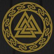 Norse Symbols Valhalla | Valknut, Wotan's Knot, Walknot, Odin, Valhalla Hoodies