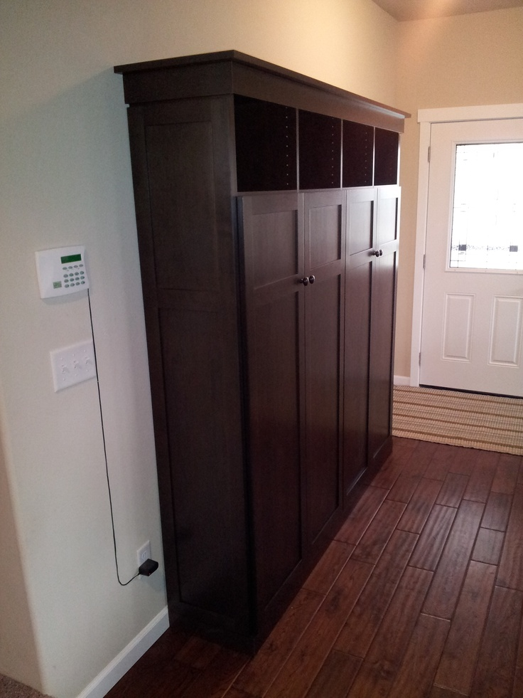 10 best images about mud room guest room on pinterest for Wood lockers with doors