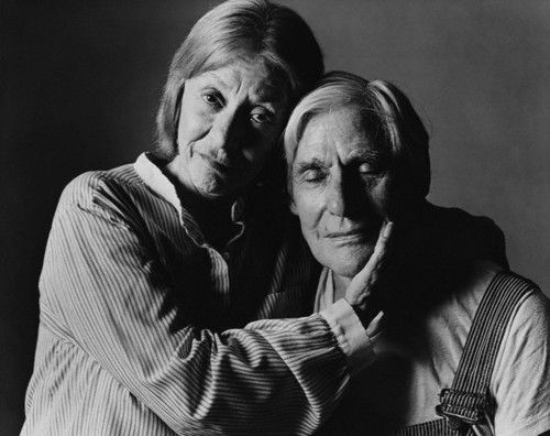 Elaine and Willem de Kooning, New York Dec. 1983 -by Denis Piel via corbis