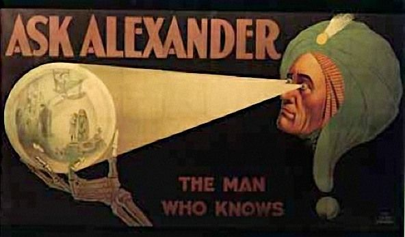 The answer to the tie-breaker question in the SCM Christmas Quiz was Alexander. Billed as 'The Man Who Knows' Alexander's real name was Claude Alexander Conlin. Born in 1880, he d…