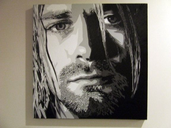 Kurt cobain, 30 x 30 inch