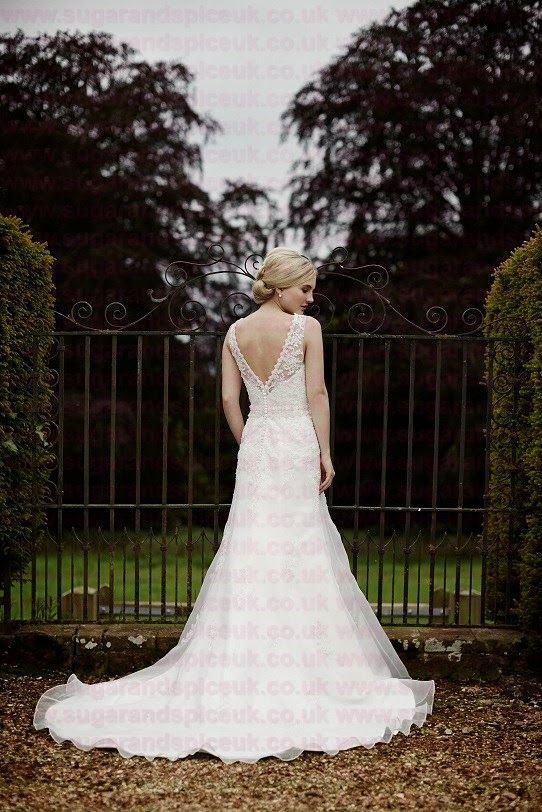 Tiffanys Eloise - Lace gown back - Sugar and Spice UK - Lincoln