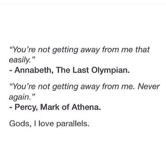 Rick Riordan is the master of parallels