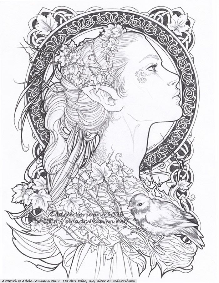 Love the Celtic circle design for a possible glass piece.      Elvish by `Saimain on deviantART