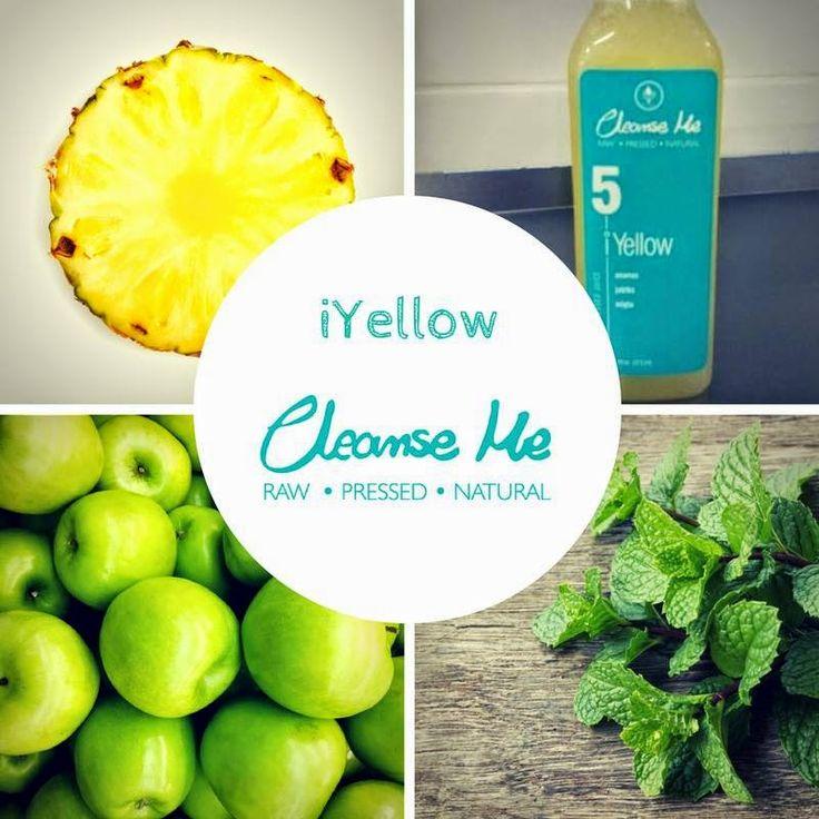 Zielone koktajle: iYELLOW = ananas + jabłko + mięta 10% rabatu na stronie http://cleanseme.pl na kod: ZIELONEKOKTAJLE