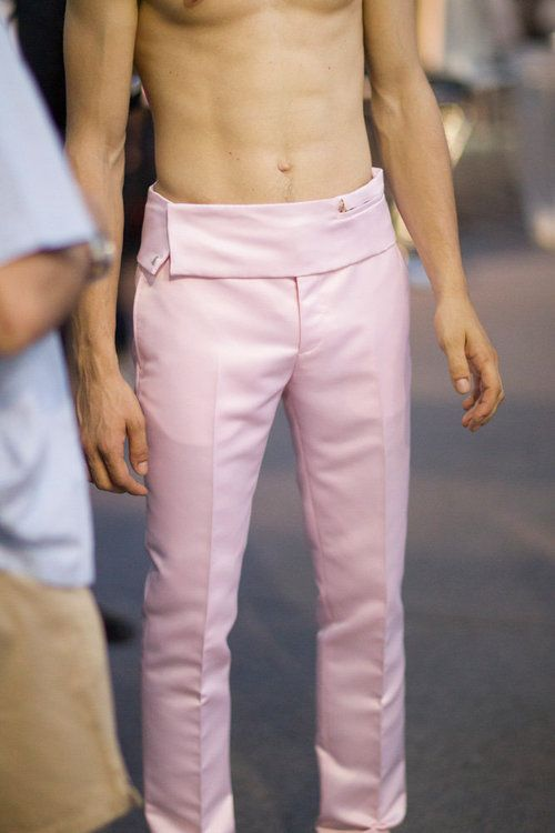 Givenchy Real Men wear pink! It was never that it was a girly colour. Its that it was too bold and shiny like to be suited for men. That depends on how you wear it. The shade of or texture plays a role, not the colour.