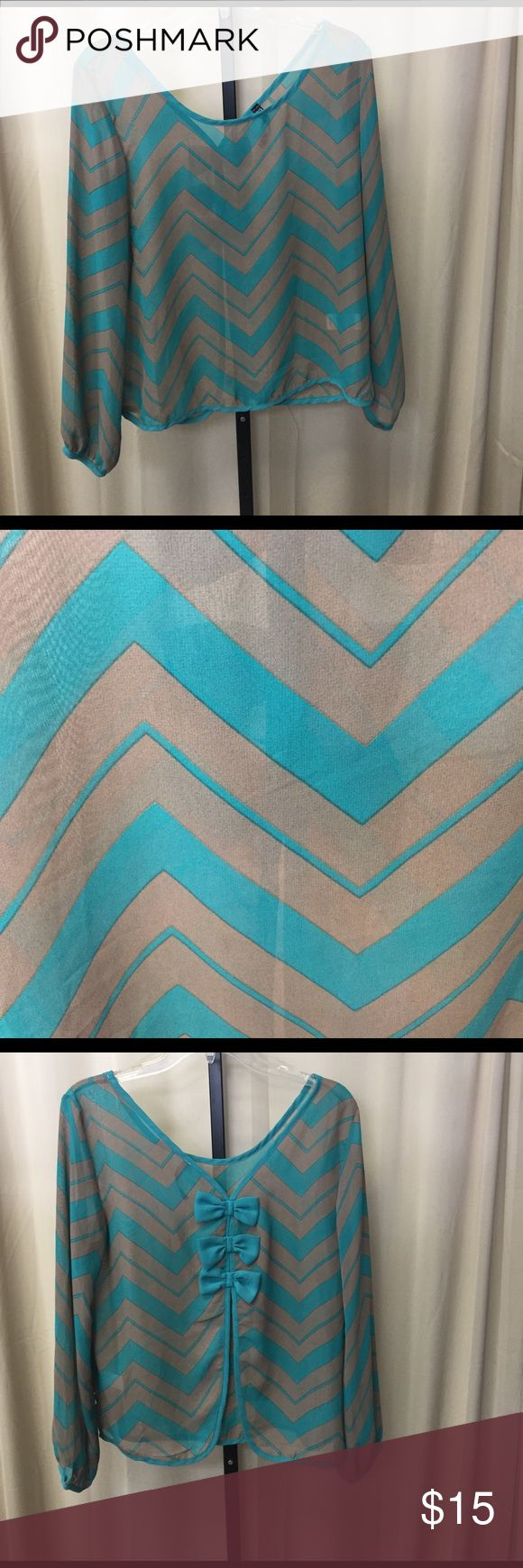 Chevron shirt ~NO TRADES~REASONABLE OFFERS ACCEPTED~PLEASE ASK ALL QUESTIONS BEFORE PURCHASING~ALL OFFERS MUST BE MADE THROUGH THE OFFER BUTTON. OFFERS LEFT IN COMMENTS WONT BE ACKNOWLEDGED~NO LOWBALL OFFERS~NO HOLDS Francesca's Collections Tops
