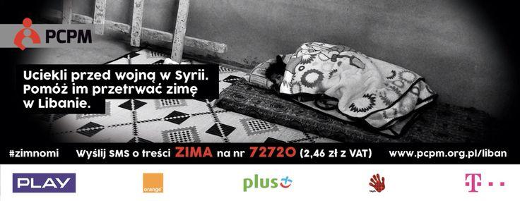 Wyślij SMS o treści ZIMA na 72720 za 2,46 zł (z VAT) i pomóż przetrwa zimę tym, którzy uciekli przed wojną z #Syria