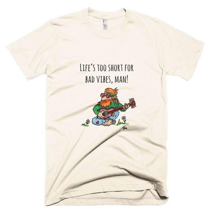 Good Vibes Motivational Hippie T-Shirt by Jimmo Shirts featuring original artwork. Put this shirt on and show off your bohemian spirit. Listen to great music and never lose your cool. Life is simply t
