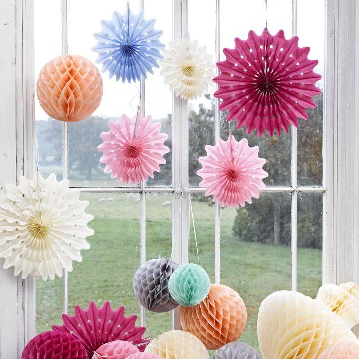 Papierowa dekoracja Honeycomb - Szukaj w Google