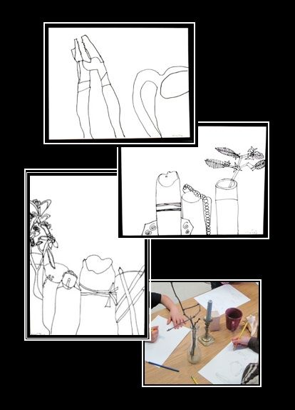 Contour Line Drawing Lesson Elementary : Best contour line drawing images on pinterest art