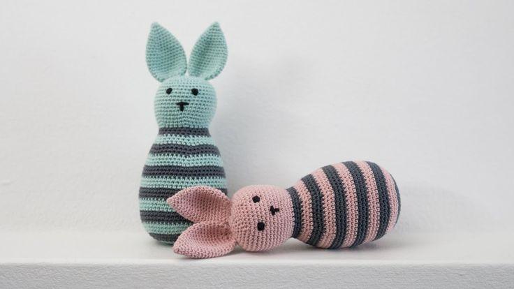 DIY: How to crochet a rabbit by www.ojhæklerier.dk and Søstrene Grene