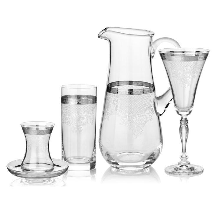 Magic Platinum Cam Kadeh Serisi / Glass Set #bernardo #tabledesign #glass