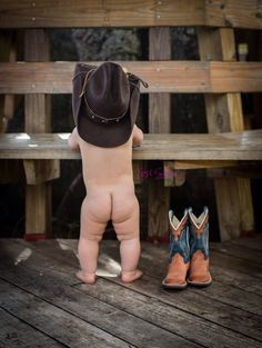 Cowboy.  First birthday.  Photo shoot.