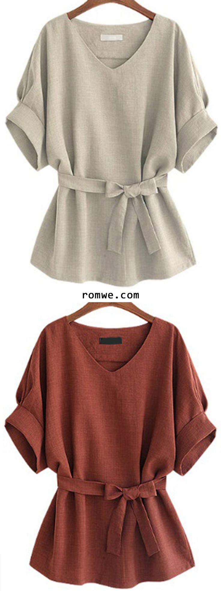 V Neck Self Tie Blouse - Best 25+ Blouses Ideas On Pinterest Work Blouse, Long Sleeve