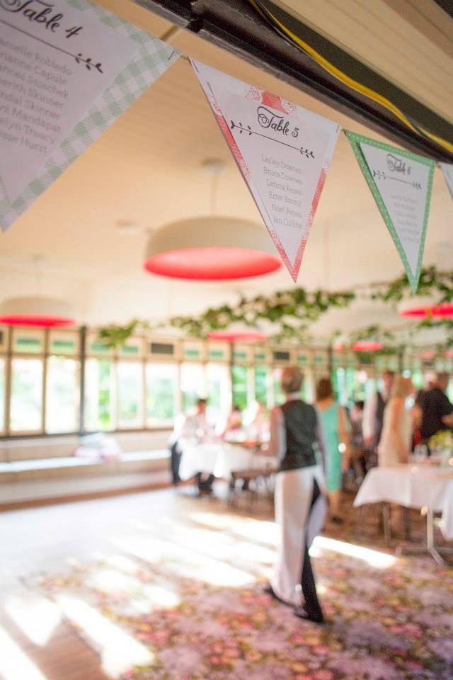 Natalie & Kevin - Escort bunting by Lulu & Bee. Beautiful space at Vaucluse House. Photography by Mint Photography