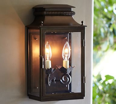 Bolton Indoor/Outdoor Sconce #potterybarn