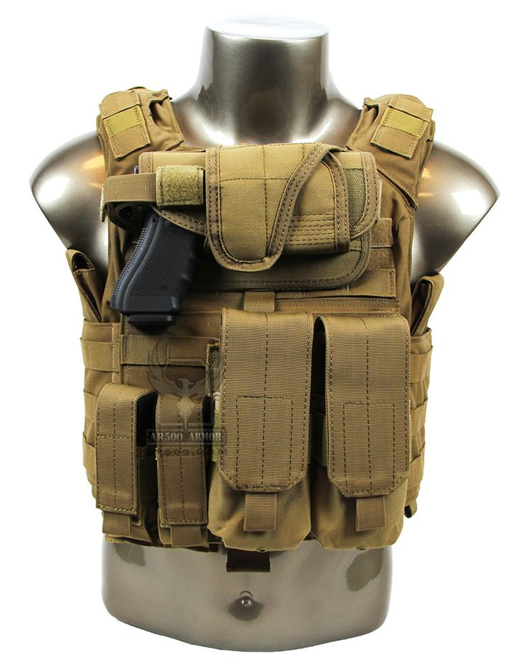 AR500 Armor® Banshee Package Front - Coyote