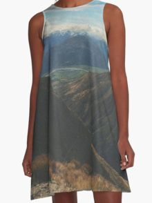 On Top Of Mountains A-Line Dress