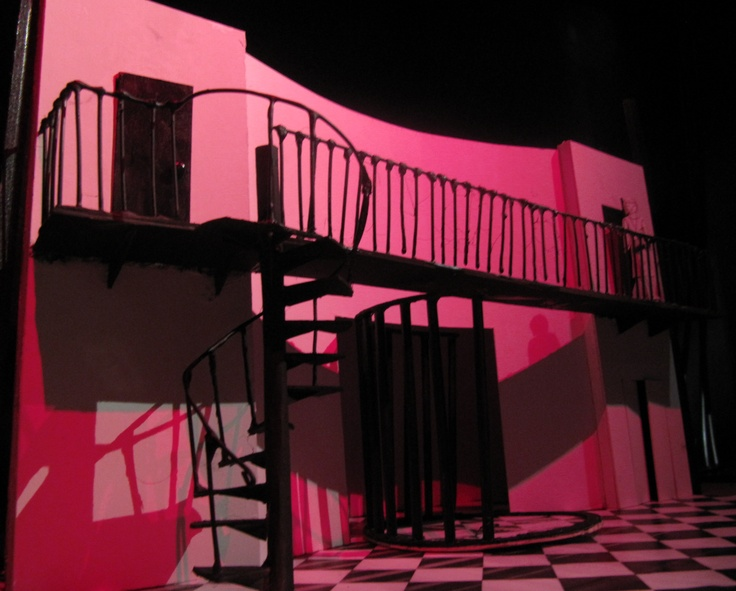 Set design for 'The Changeling'. Set in 1920's