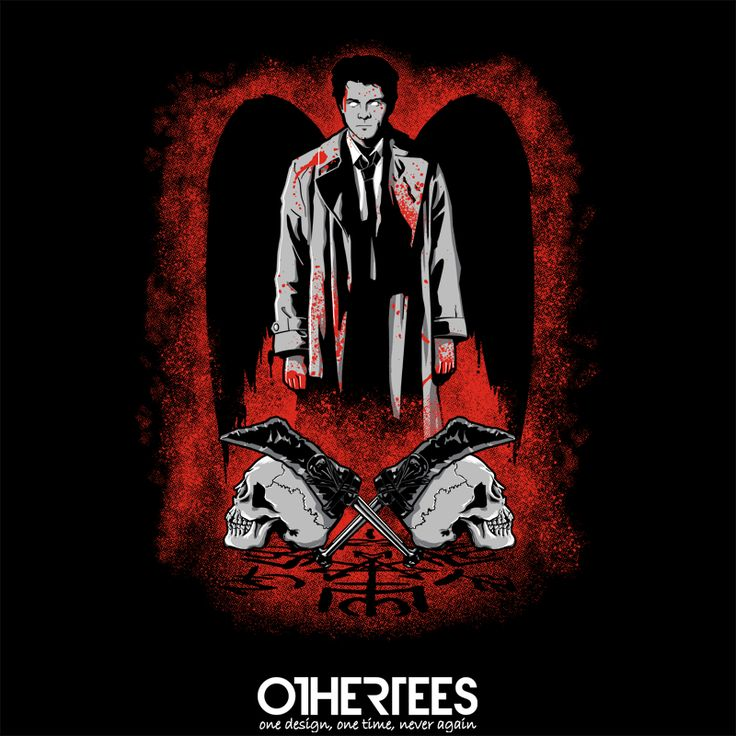 """He Who Would be King"" by Mandingo Shirt on sale until 15 June on http://othertees.com Pin it for a chance at a FREE TEE! #supernatural #castiel"