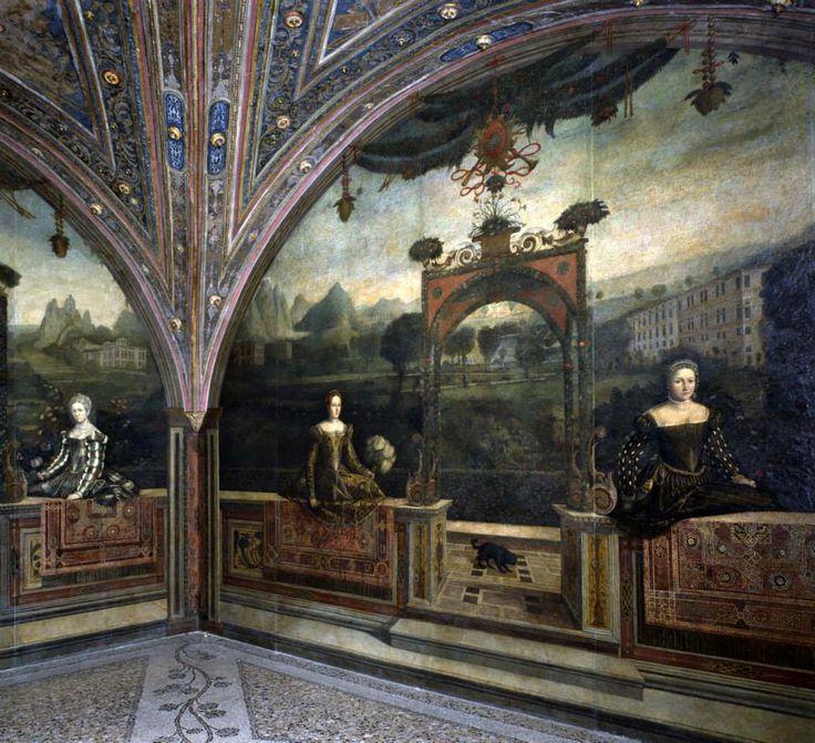 Moretto da Brescia, Dame di casa Martinengo, 1543. Palazzo Martinengo di Padernello, oggi Salvadego, Brescia