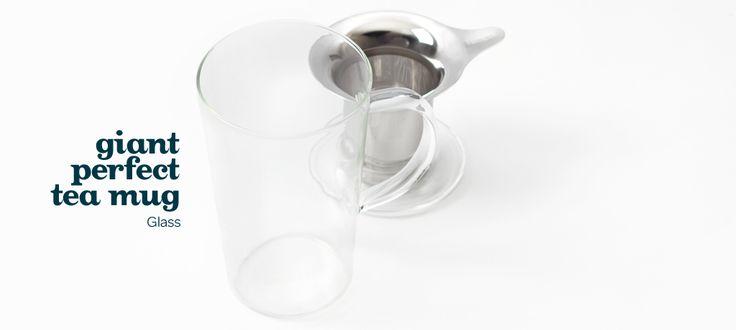 Giant Perfect tea mug (glass) by DavidsTea
