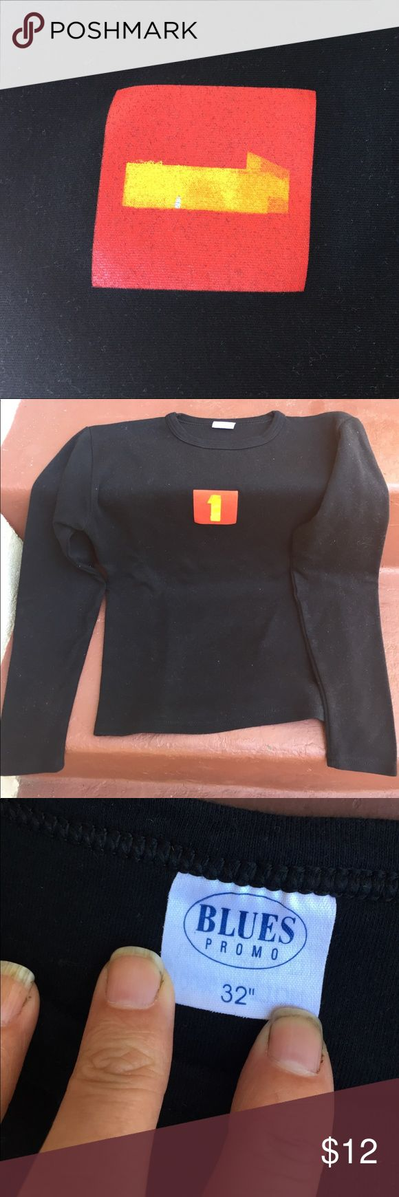 Beatles one album promo tee- limited edition Xs -S ish . size black long sleeve - slightly cropped look - ie. not a long tee. Never worn.  Limited edition . Tops Tees - Long Sleeve