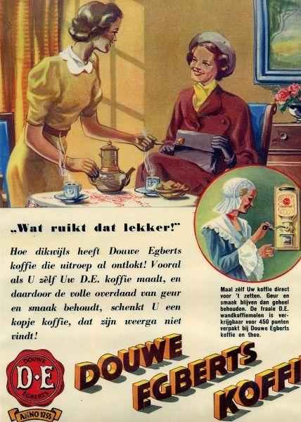 www.trondbargie.nl - - - - - - - - -  Oude reclame Douwe Egberts KOFFIE