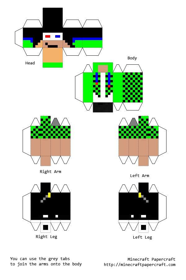 Create papercraft of activeredstone skin Minecraft Skin