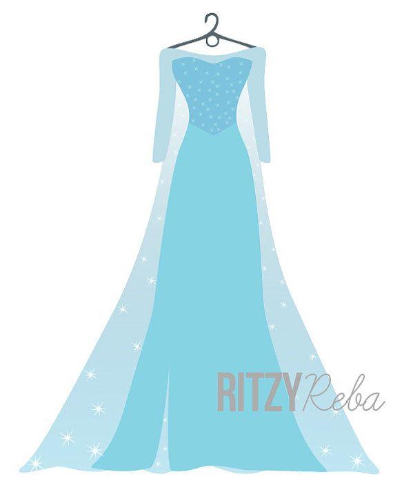 Sick day=new designs. Elsa Frozen Princess Dress Print  Minimalist by RitzyRebaDesigns, $10.00