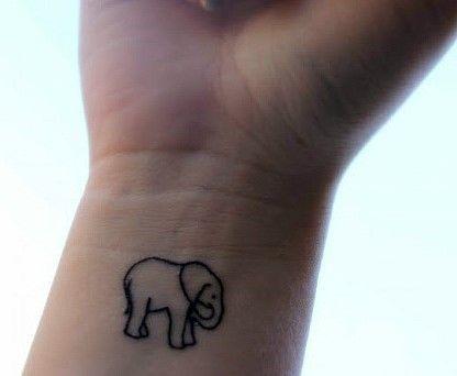 코끼리 타투 Elephant tattoo
