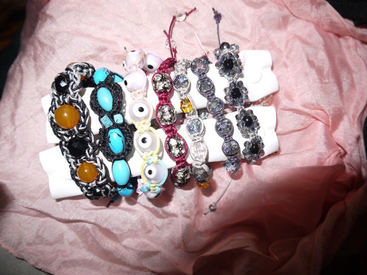 macrame & crochet bracelets