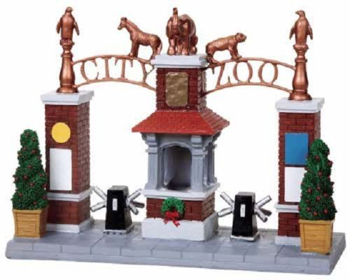 Spectacular Lemax Village Circus Carnival Zoo City Zoo Entrance Gate RETIRED NIB