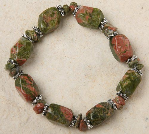 Stretch Bracelet - Unakite Beads Curious Designs. Save 7 Off!. $12.95. Free shipping on orders over $75.00.. Please see our apparel, mosaic ceramic and bead lines!. More Jasper and Unakite jewelry available.