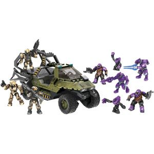 Mega Bloks Halo Covenant Strike Playset, Troop Transport Warthog, Mega Bloks Halo Set, Kids Playset