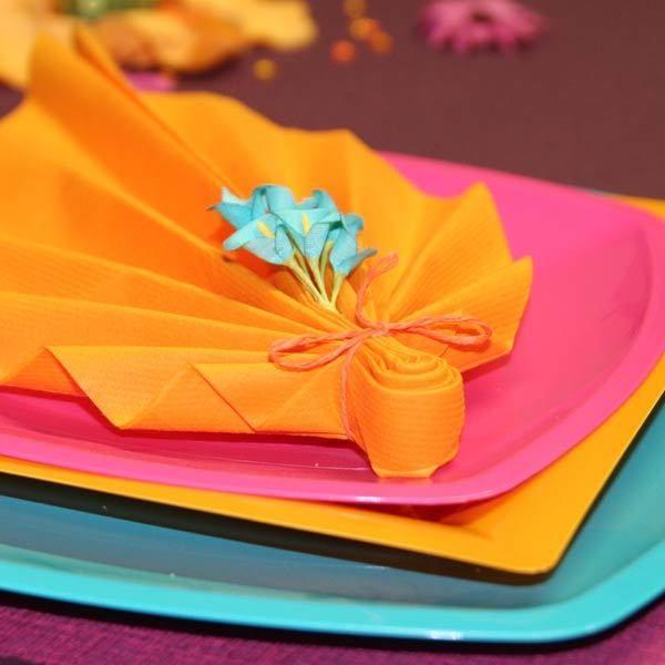 Id e pliage de serviette napkinfold serviette decoration de table sur not - Pliage serviette table ...