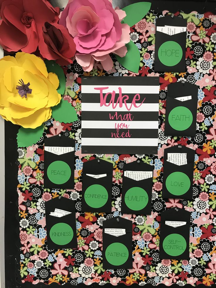 Take what you need bulletin board. (With images