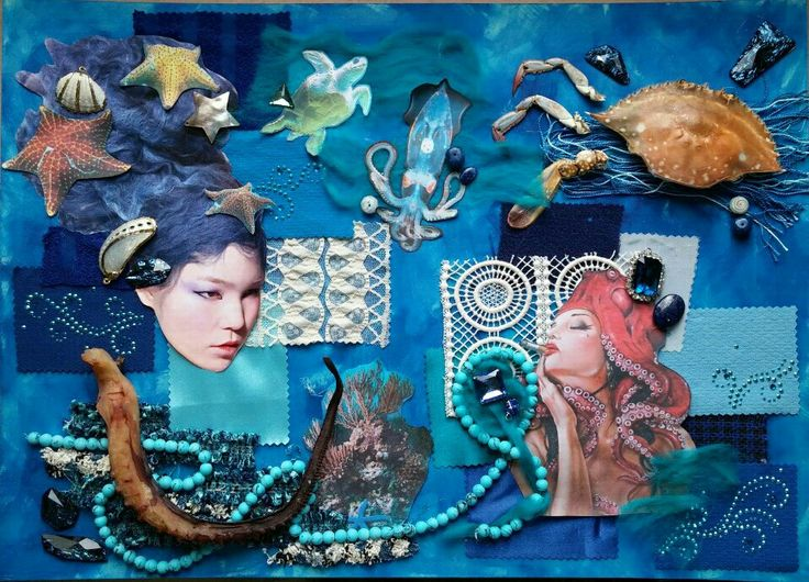 UNDER THE SEA GROUP4 MOOD BOARD | Mood board for art ...