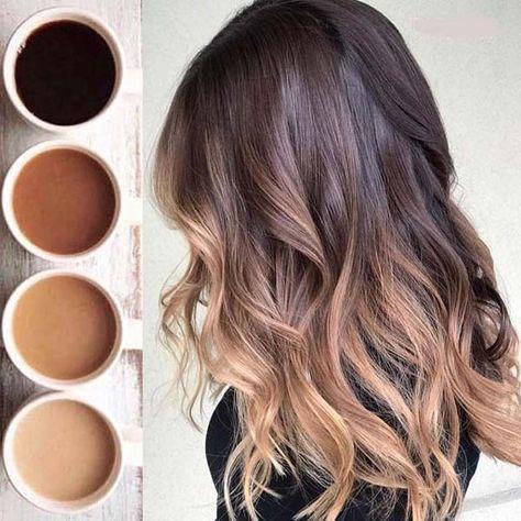 Incroyable couleur Balayage pour les amateurs de café en 2019 – #Balayage color #e