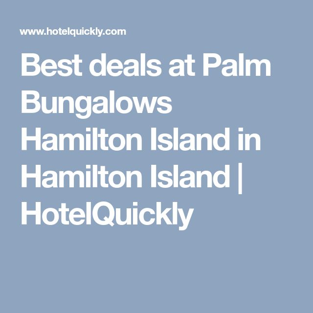 Best deals at Palm Bungalows Hamilton Island in Hamilton Island | HotelQuickly