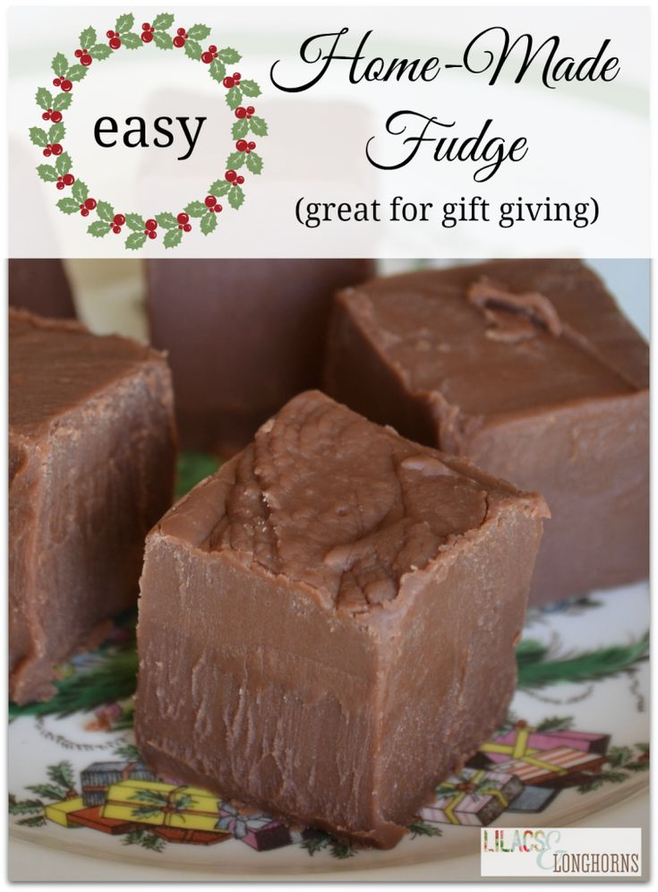 Easy Home Made Fudge!  Everyone loved this recipe only thing I did different is use all milk chocolate chips  KM