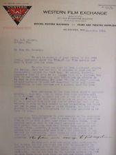 Vintage movie letterhead Western film exchange Fire Chief's daughter Castaways