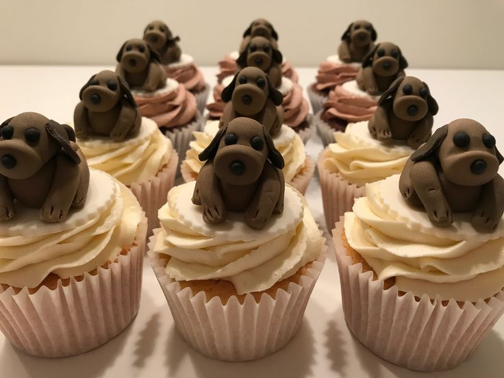 Dog cupcake toppers