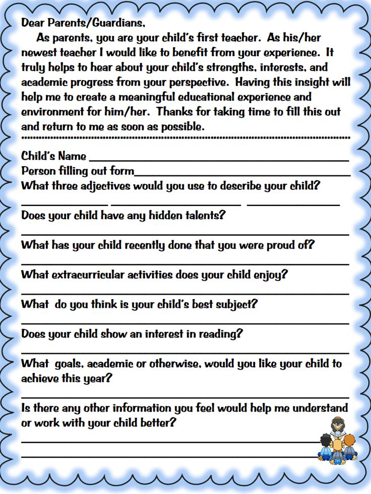 The  Best Parent Questionnaire Ideas On   Student