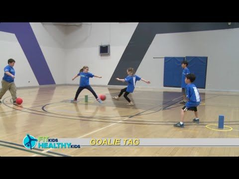 Goalie Tag A multi-skill fun game to get kids moving!