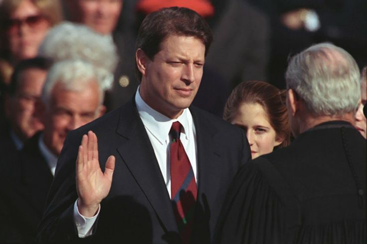 FIFTY-SECOND INAUGURAL CEREMONIES,  January 20, 1993 - Vice Presidential Oath of Office, Administered to ALBERT A. GORE, JR. by the Honorable Byron White, Associate Justice of the U.S. Supreme Court.