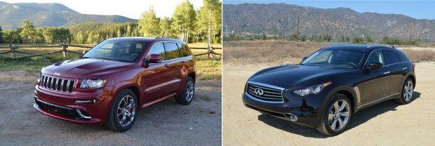 #2012 #Jeep #Grand #Cherokee #SRT8 vs #2013 #Infiniti #FX50S #Mashup Review