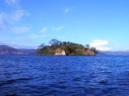 El Salvador - Lake Ilopango, a former volcano